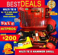 Hilti Te 5 Hammer Drill Lk With Te 5 Drs Dust Strong Free Extras Fast Ship