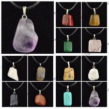 Wholesale 12 PCS Fashion Irregular Natural Stone Pendant Necklace Gift