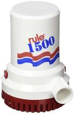 Rule 1500 GPH Heavy Duty Submersible Non-Automatic Bilge Pump 12V Part # 02