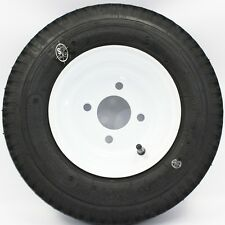 """LoadStar 4-hole 8"""" x 3.75"""" White Trailer Wheel and Tire 4.80-8 4ply 40844"""