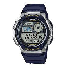 Casio AE-1000W-2A Blue Silver-Tone Unisex Digital Sports Watch Box Included