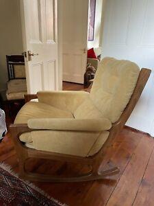 Danish rocking chair - teak, 1970's design. Good condition.