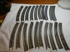 """HO TRAIN LOT OF 19 VINTAGE ATLAS BRASS SNAP TRACK 18"""" RADIUS CURVE SOME CHIPS!"""