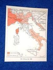 Cartina L'Italia nel 1806