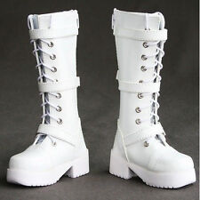 16# White 1/3 SD DZ DOD BJD Dollfie Synthetic Leather Boots/Shoes