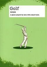Funny Birthday Card - Golf Noun