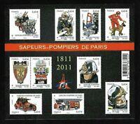 Bloc Feuillet 2011 N°F4582 Timbres France Neufs - Sapeurs-Pompiers de Paris