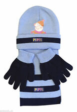 74ec7cda296 Boys girls knitted beanie hat scarf and gloves set 4-8 y - Peppa Pig