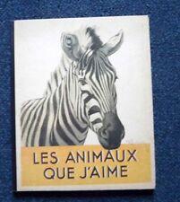 Livre pour enfant Livre accordéon Bestiaire LES ANIMAUX QUE J'AIME années 30
