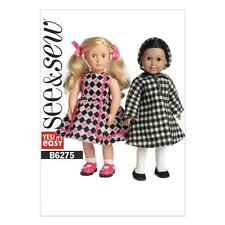 BUTTERICK SEW & SEW SEWING PATTERN 18 inch DOLL CLOTHES DRESS COAT HAT B6275