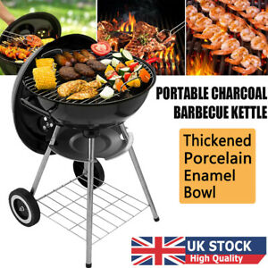 Portable Round Kettle Charcoal Grill BBQ Outdoor Heat Control Party BBQ Grill UK