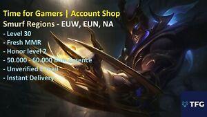[EUNE/EUW/NA] League of Legends LOL SMURF Account - 50.000+ BE - 30lvl - 2 honor