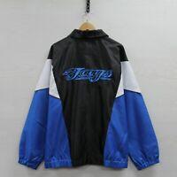 Toronto Blue Jays Windbreaker Jacket Size XL Black Blue MLB Baseball
