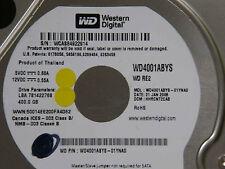 400 GB WD WD4001ABYS-01YNA0 / HHRCNT2CAB / JAN 2008 / 2060-701477-002 REV A