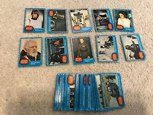 1977 STAR WARS Trading Cards Series 1 Complete Cards Blue Luke PSA sets fair