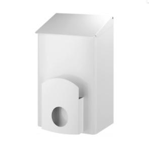 Hygiene-Abfallbehälter Abfalleimer Edelstahl weiß 7 l + Hygienebeutel-Halterung