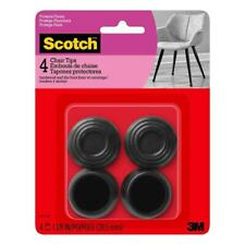Scotch 4-Pack 7/8-in Black Rubber Caps