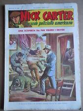 Nick Carter Il Grande poliziotto americano Anni 40 n°22 ed. NERBINI  [G369]