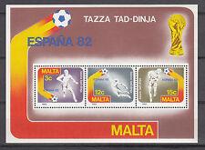 Malta Block 7 postfrisch Fußballweltmeisterschaft in Spanien