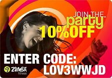ZUMBA ZUMBAWEAR COUPON 10% OFF ON SHOES, BRAS, TOPS, PANTS, ACCESSORIES