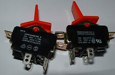 12 x Arrow 10A 250v ac toggle switch 93RP4040B103K double pole DPST  250vac