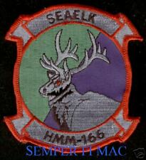 AUTHENTIC HMM-166 SEAELK US MARINE PATCH HELICOPTER