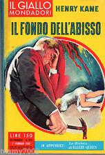 IL GIALLO MONDADORI=IL FONDO DELL'ABISSO=N°575 7/2/1960=HENRY KANE