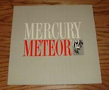 Original 1962 Mercury Meteor Deluxe Sales Brochure 62 Sedan