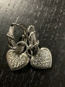 Judith Ripka Sterling Silver Earrings & Charms