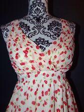 DANITY  ROBE DRESS POP CHERRIES CERISE T S OU 34/36