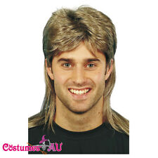Adult Mens 1980's 80s Jason Brown Mullet Wig 80's 1980s Costume Wigs Dress Party