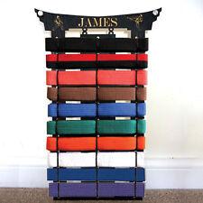 3 x 9 personalised martial arts belt holder rack display karate birthday