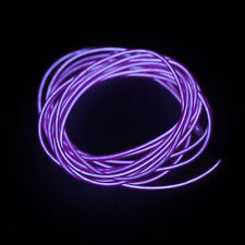 1-5m Flash Flexible Neon LED Light Glow El Strip Tube Wire Rope Party Light P5 Purple 3m With Controller