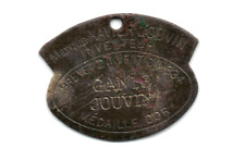 1834 Gants Jouvin Metal Tag For Glove Advertising Back P.H. Ottenheimer Scarce