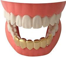 Hip Hop 14K Gold GP Mouth Teeth Grillz Bottom Lower Grills Vampire Fangs S020
