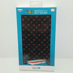 Official Super Mario mushroom star Protective Hard Cover case for Wii U Gamepad