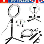 20cm LED Selfie Ring Light with Tripod Phone Holder Stand For Makeup Live Stream