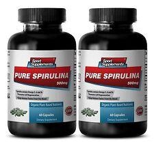 Organic SPIRULINA 500mg 100% Plant-Based Dietary Powder Nature Vitamin-D  2Bot