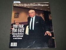 1988 JANUARY 10 NEW YORK TIMES MAGAZINE SECTION - JOHN GUTFREUND COVER - J 3115