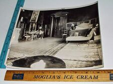 Rare Historical Original VTG Elegant Antique Room w Chaise & DIning Table Photo