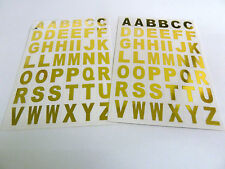 13.5mm Gold on Clear Vinyl Sticky Letters, Alphabet A-Z Stickers, BL84