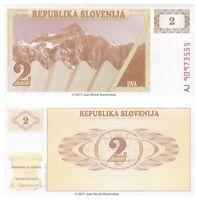 Slovenia 2 Tolarjev 1990 P-2 Banknotes UNC