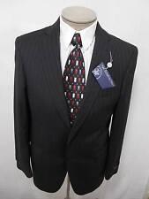 Hart Schaffner Marx Mens 100% Wool Sport Coat Blazer Jacket Pinstripe Black 38S