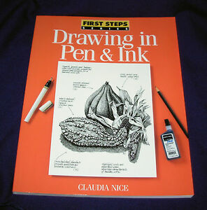 DRAWING in PEN & INK first steps series Draw Freehand Cluadia Nice art artist