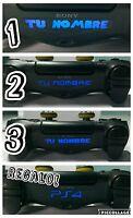 3 pegatinas vinilo mando juego led playstation4 personalizadas+ logo ps4