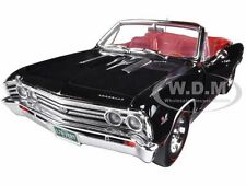 1967 CHEVROLET CHEVELLE SS 396 L-78 BLACK CONV. 50TH ANN. 1/18 AUTOWORLD AMM1048