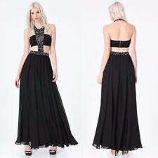 BEBE BLACK JEWELED BEADED BANDEAU GOWN DRESS NWT NEW $299 SMALL S 6