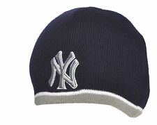 NY Yankees Beanie Hat MLB New York Navy Blue and Silver Warm Winter Adults BH801