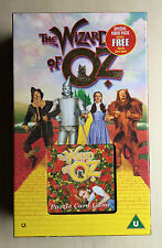 THE WIZARD OF OZ - SPECIAL VHS VIDEO PACK - INCLUDES PUZZLE CARD GAME