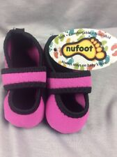 Nufoot Baby Pink & Black Mary Jane Shoes 6-12 Months